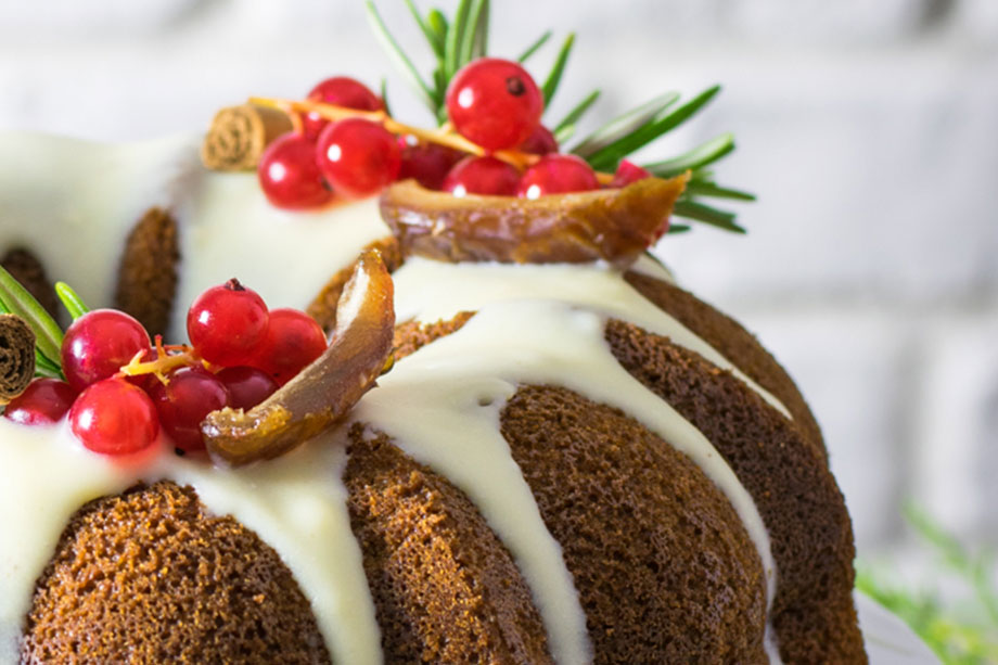 Bundt cake allo zenzero cannella cioccolato bianco
