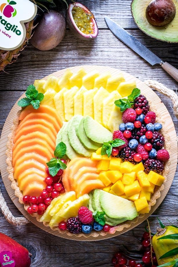 Crostata di frutta tropicale