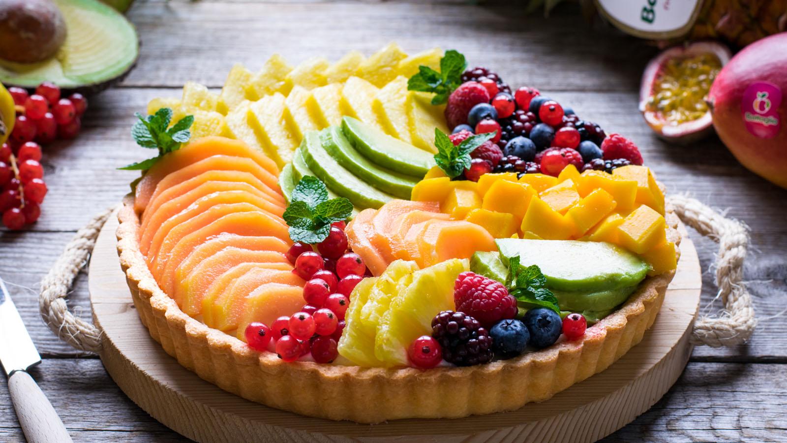 Foto Crostata di frutta tropicale