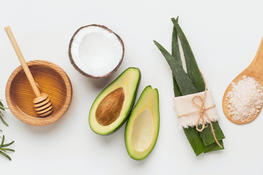 Ingredienti naturali per trattamento skincare
