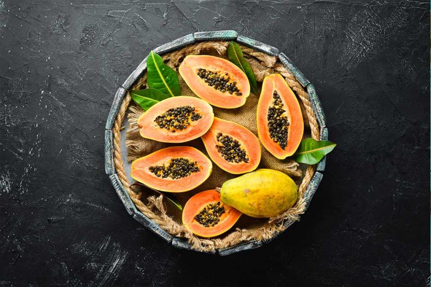 Papaya pronta da tagliare